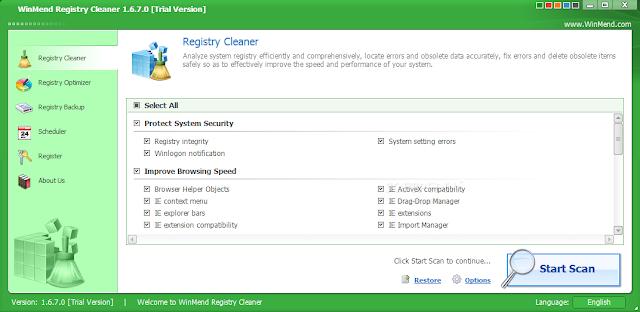 تحميل برنامج اصلاح الريجستري WinMend Registry Cleaner