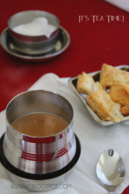 tea time snack time with ginger and cardamom chai