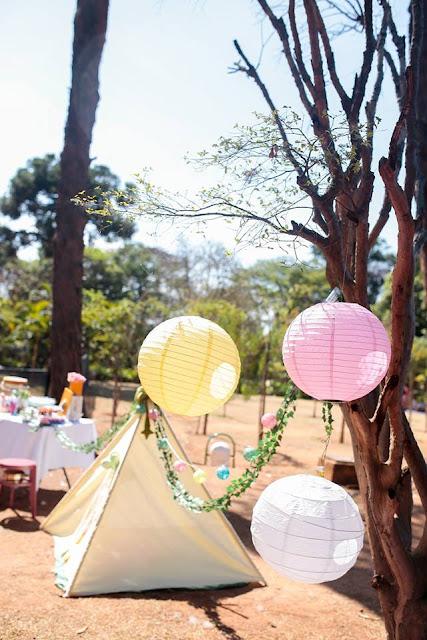 Aniversário Tema Dinossauro - Meninas - DIY - lanternas japonesas