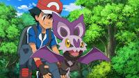 Ash ayudando a Noibat a Volar