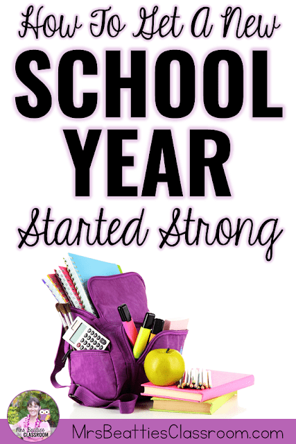 """Backpack with text, """"How to get a new school year started strong."""""""