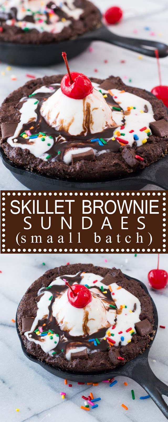 SKILLET BROWNIE SUNDAES