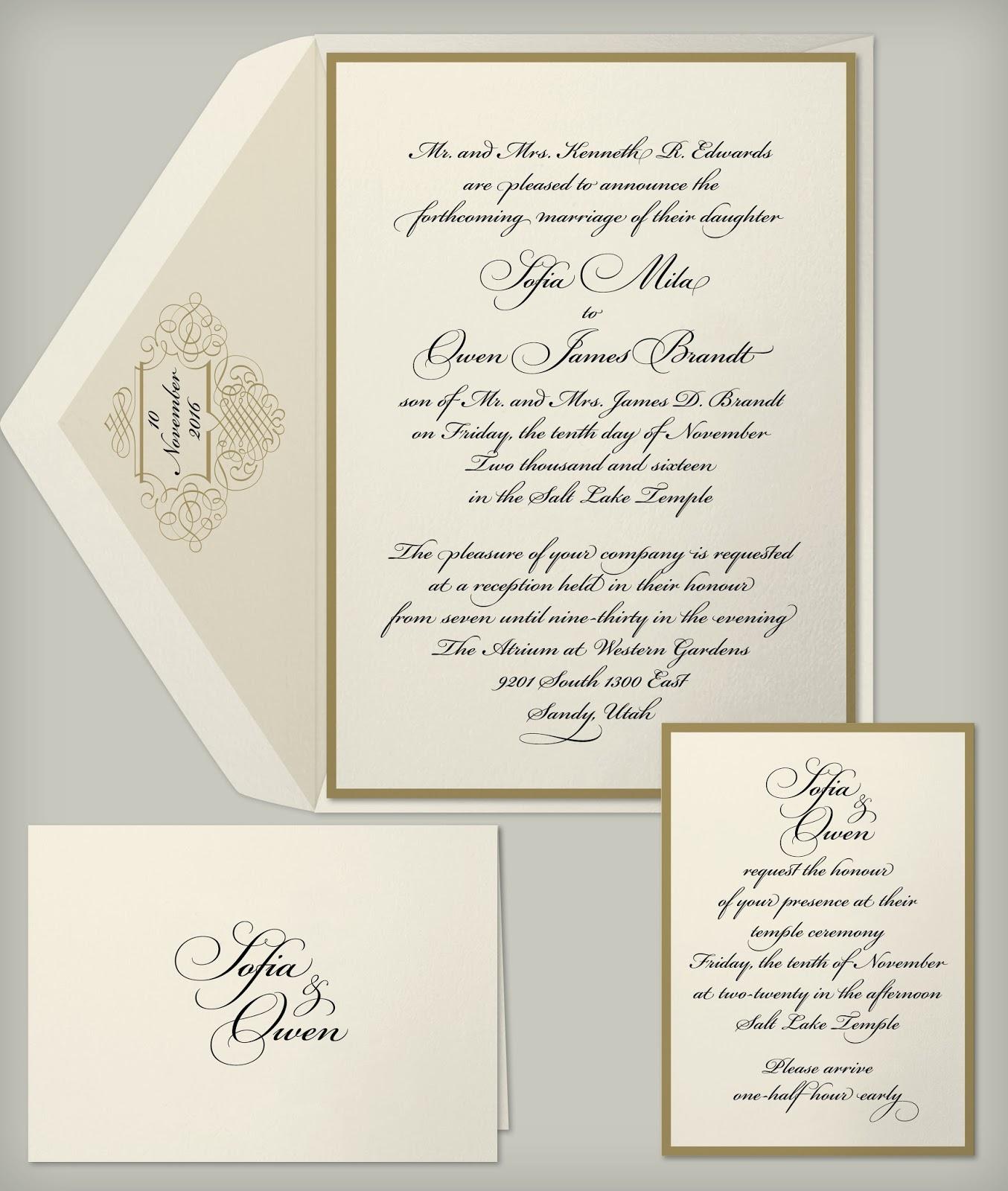 Wedding Invitation Blog: Black & Gold Wedding Invitation