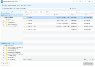 Using EaseUS data recovery Software