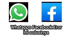 Cara Mengatasi WhatsApps Facebook Eror