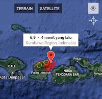Tercatat 6 Kali Gempa Susulan Pasca Gempa 6,9 SR Lombok Tadi Malam