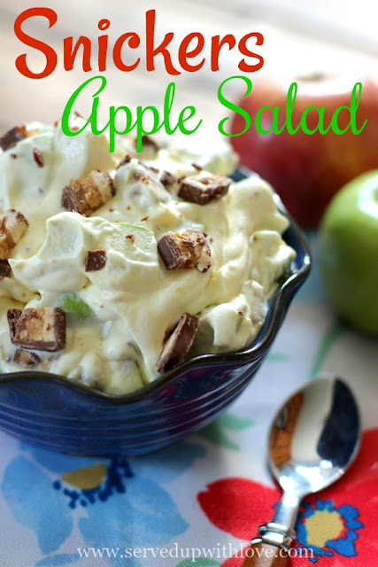 Snickers Apple Salad recipe from Served Up With Love