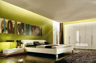 Habitación matrimonial verde