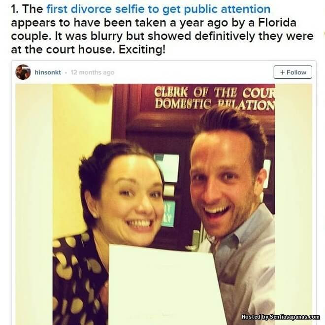 Divorce selfies Trend Pelik Rakam Swafoto Selepas Bercerai