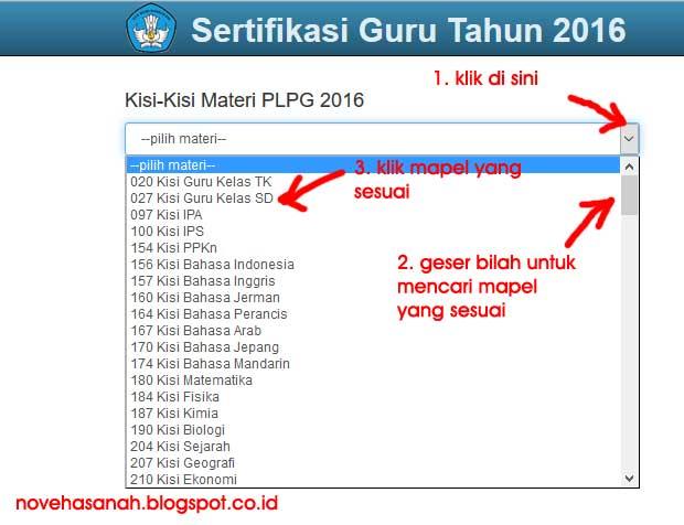cara mendownload silakan download kisi-kisi materi PLPG Sertifikasi Guru tahun 2016 langsung dari situs resmi kemdikbud