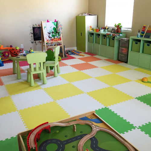 Floor Pillows For Daycare : Greatmats Specialty Flooring, Mats and Tiles: Creating a Soft Child s Bedroom Floor: The Magic ...