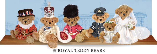 Royal teddy bears