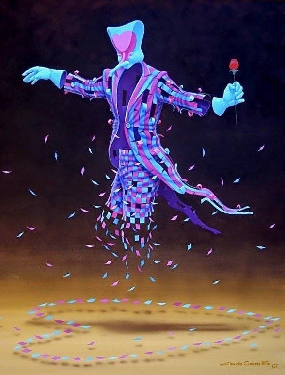 Paixão - Claudio Souza Pinto e suas pinturas cheias de cor e criatividade
