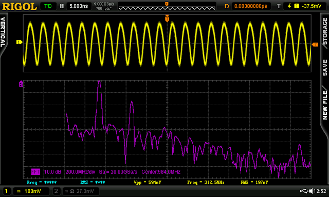 FFT shows the 2nd harmonic @ -17 dBc.