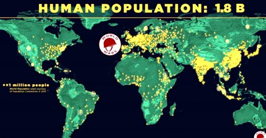 Sem controle: veja o crescimento da população mundial desde os primórdios