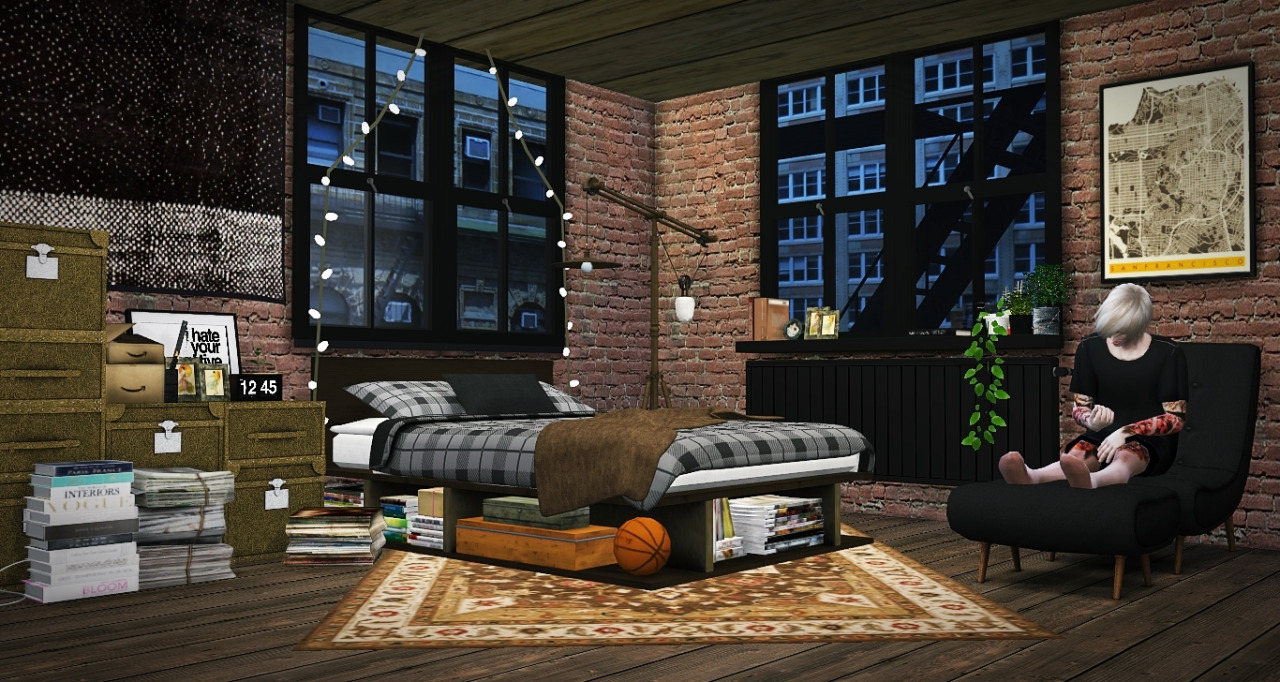 My Sims 4 Blog Industrial Rustic Bedroom By Mxims