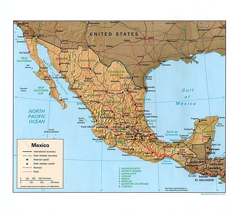 México | Mapas Geográficos do México
