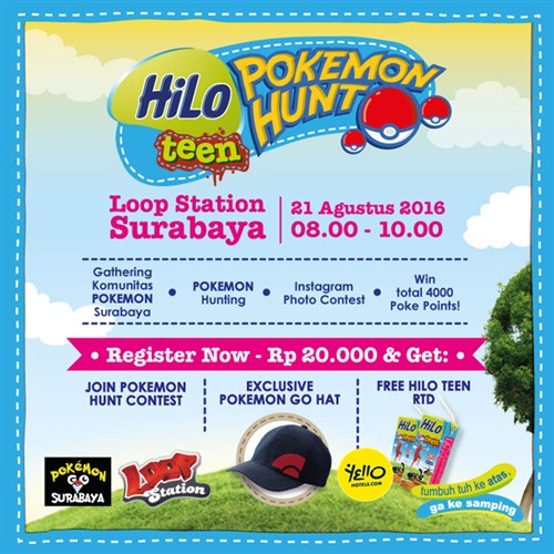 Event Surabaya - Hilo Teen Pokemon Go Hunt