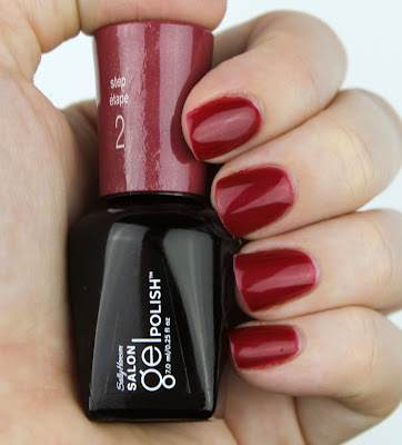 Sally Hansen Salon Gel Polish in Wine Not Nail Swatch