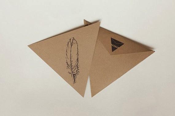 pocztówka w kształcie trójkąta