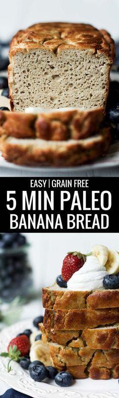 5 Minute Paleo Banana Bread