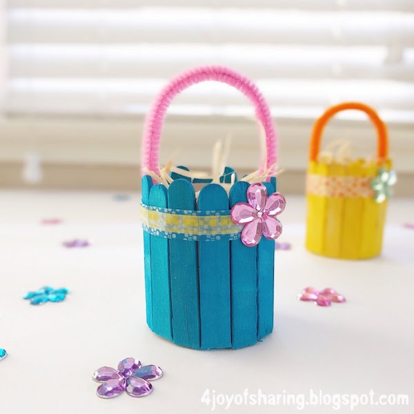 Cute And Easy Easter Basket Craft The Joy Of Sharing