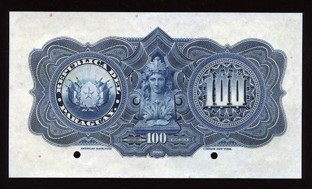 Billetes del Paraguay 100 Pesos