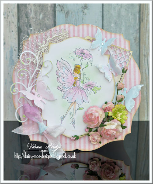 Fairy, Pink, Flowers, Butterflies