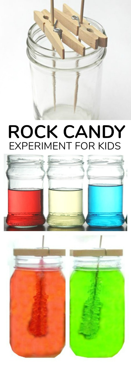 FUN SCIENCE:  Rock candy experiment using KOOL-AID!