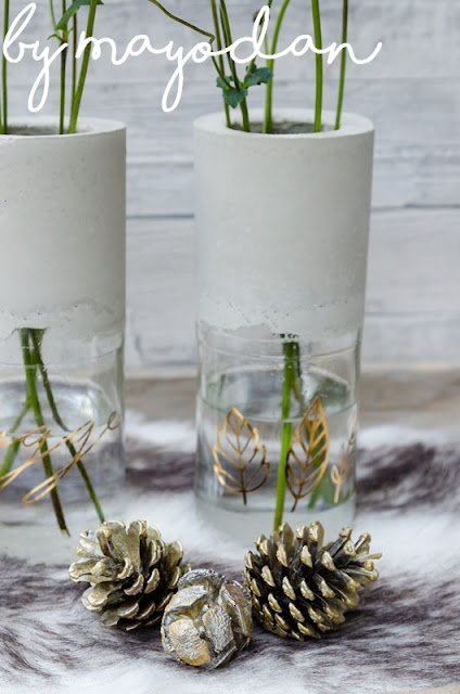 Upcycling Glasflasche