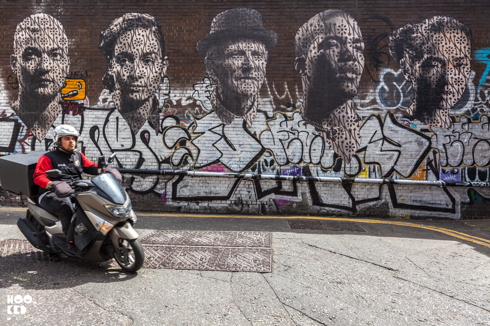 Street Artist Donk's large portraits paste ups