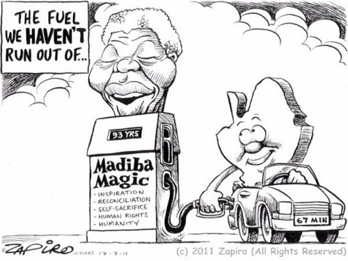 Nelson Mandela: July 18, 1918 – December 5, 2013, by Zapiro