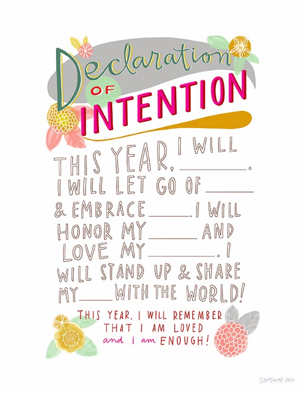 Happiness is... Declaration of Intention print by Emily Mcdowell