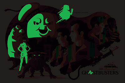 San Diego Comic-Con 2018 Exclusive Ghostbusters Glow in the Dark Variant Screen Print by Tom Whalen x Mondo