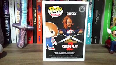 Verso da caixa do Funko Pop Chucky