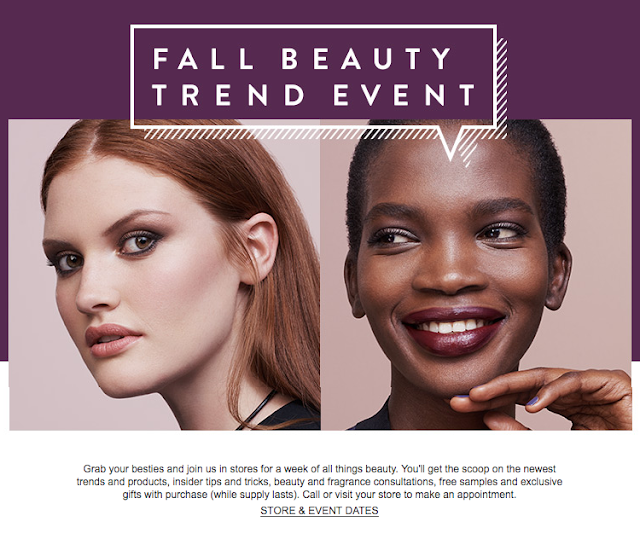 Nordstrom's Fall Beauty Trend Week