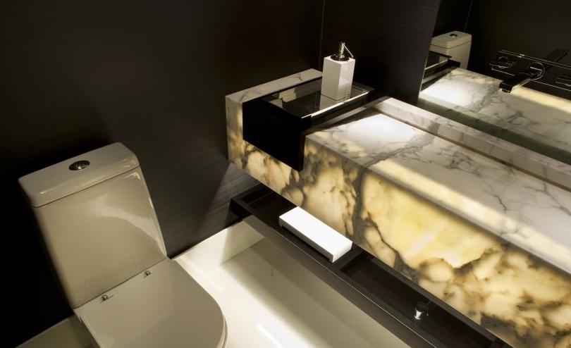 No imovelweb temos 432 casa de condomínio com 1 ou mais banheiros : Bancadas De Banheiros Lavabos Com Marmores E Onix Iluminados Veja Modelos E Dicas Decor Salteado