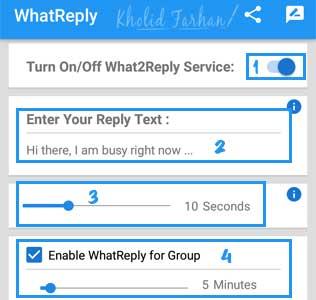 Cara Setting Aplikasi WhatReply Untuk Membalas Pesan Otomatis di WA