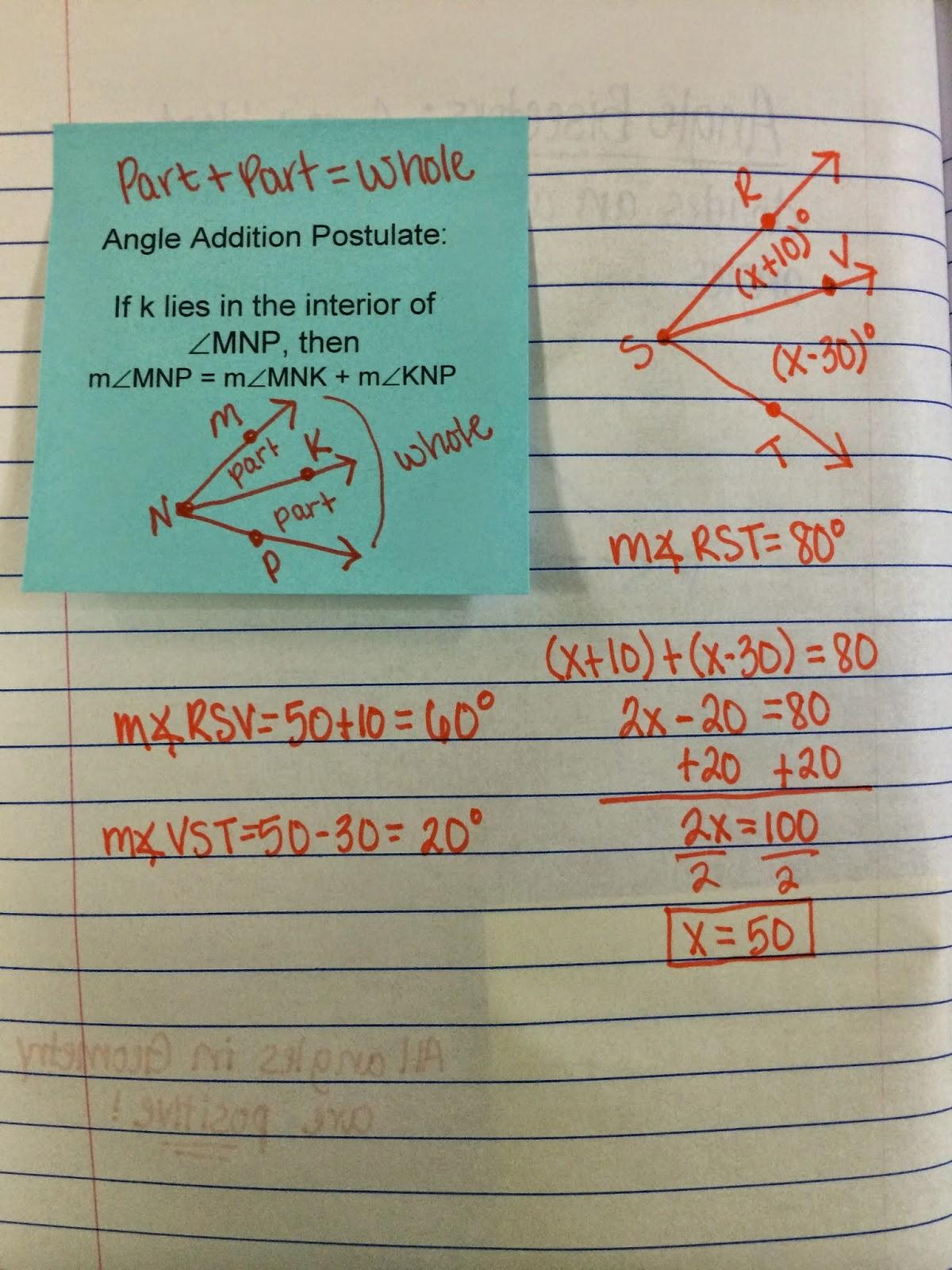 Geometry Rocks And Algebra Ii Too Classifying Angles
