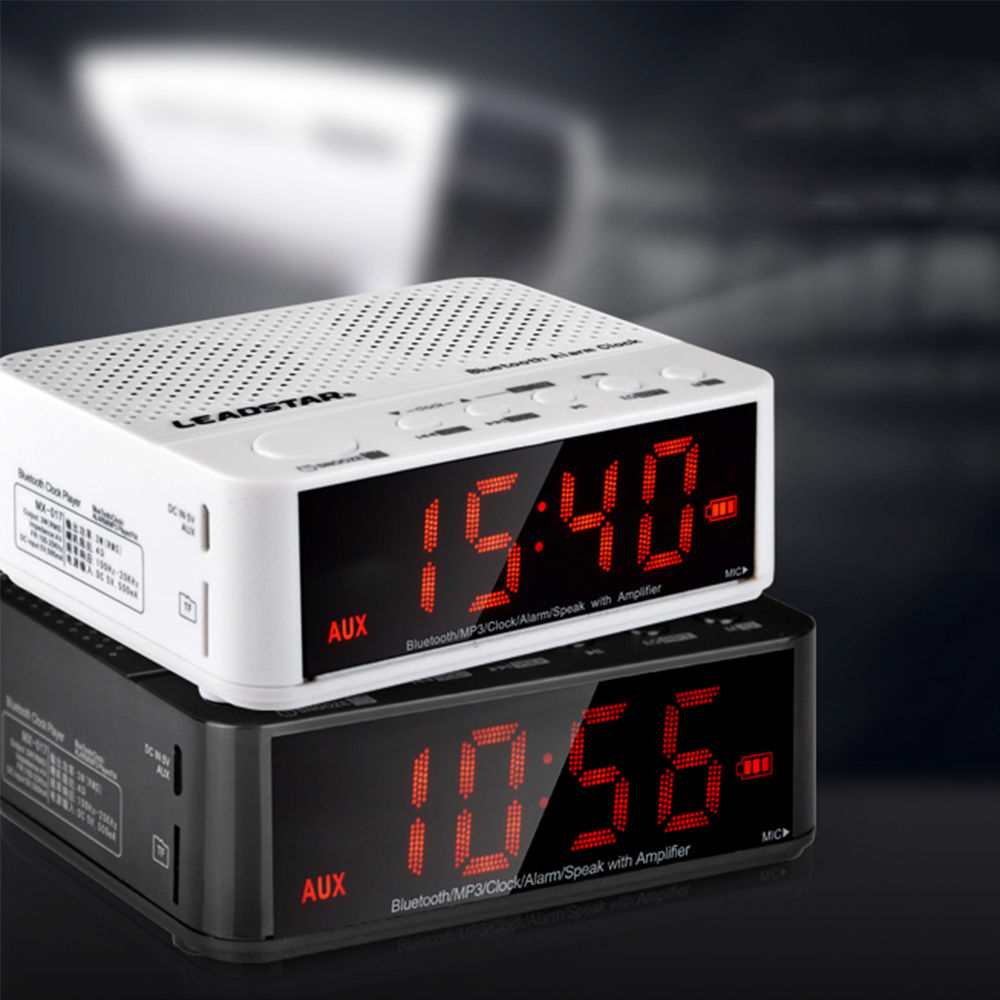 bluetooth wireless speaker with alarm clock radio memory card usb 11street malaysia speakers. Black Bedroom Furniture Sets. Home Design Ideas