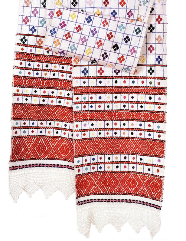 Hand embroidered towels from Belarus