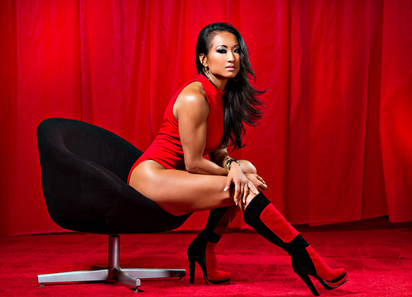Gail Kim WWE Beautiful Women Wrestler New HD Wallpaper