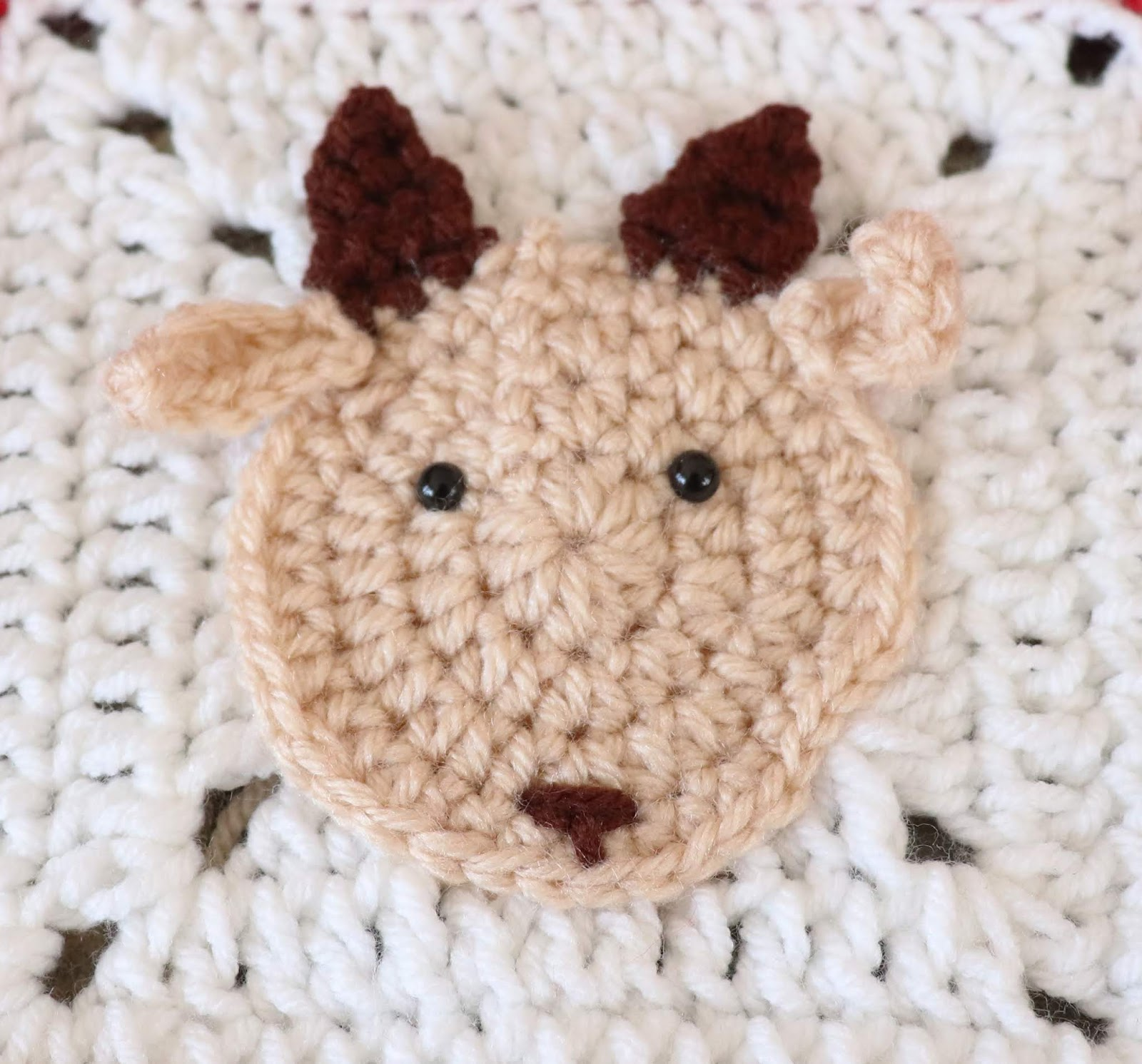 Crochet Goat Applique Free Crochet Pattern Marias Blue Crayon