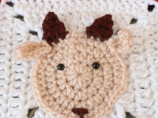 Crochet Goat Applique - Free Crochet Pattern