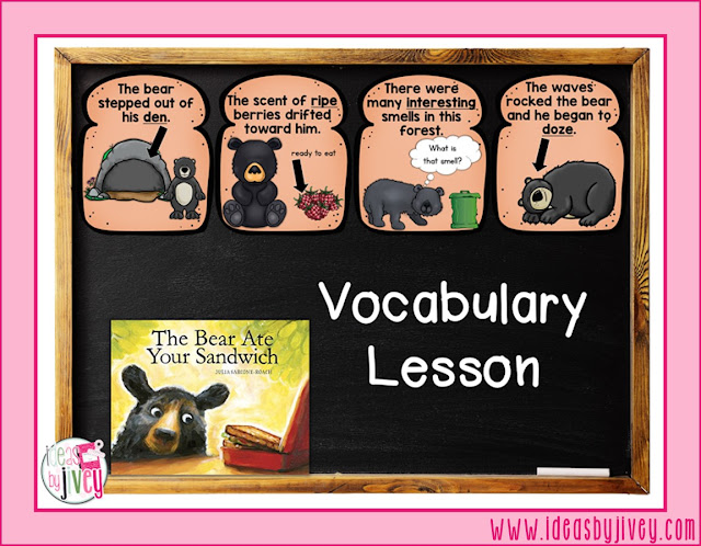 Ideas by Jivey presents a mentor text lesson on vocabulary for K-2 students with the book, The Bear Ate Your Sandwich. Free vocabulary cards and activities are provided so you can teach this in your classroom tomorrow!