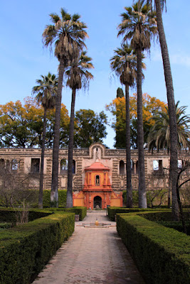 Garten des Real Alcazar in Sevilla, Schauplatz von Game of Thrones