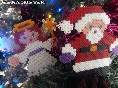 Mini Hama bead craft for Christmas