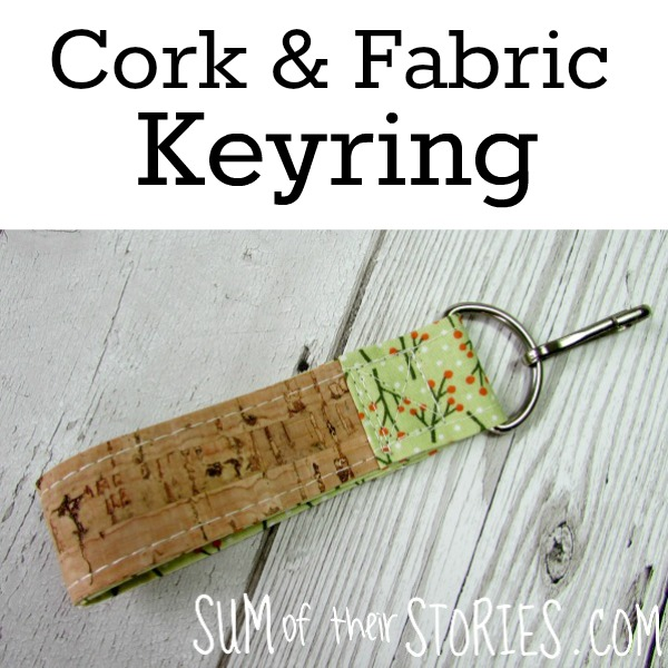 Cork & Fabric Keyring