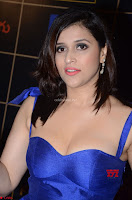 Mannara Chopra in Deep Neck Blue Gown at Zee Telugu Apsara Awards ~  Exclusive 037.jpg