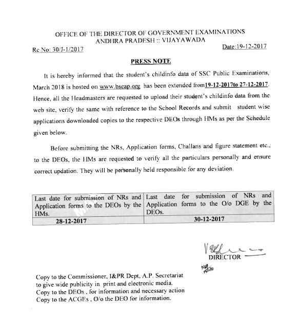 AP SSC Nominal Rolls Revised Dates
